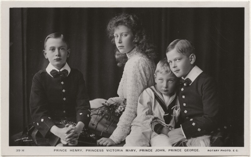 The children of King George V, by Lafayette (Lafayette Ltd), published by  Rotary Photographic Co Ltd, 1909 - NPG x136049 - © National Portrait Gallery, London