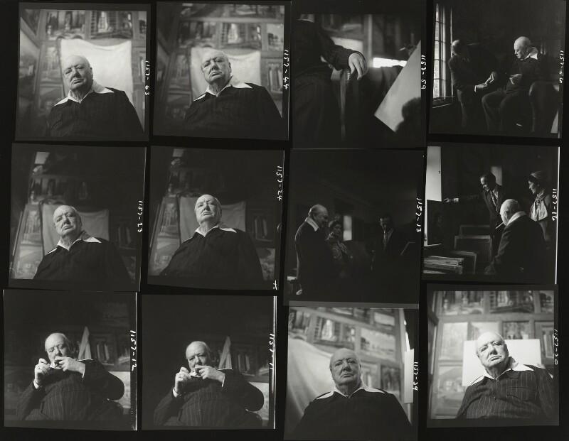 Winston Churchill; Kathleen Frances ('Katharine') Sutherland (née Barry); Graham Sutherland, by Elsbeth R. Juda, 17 October 1954 - NPG x136052 - © National Portrait Gallery, London