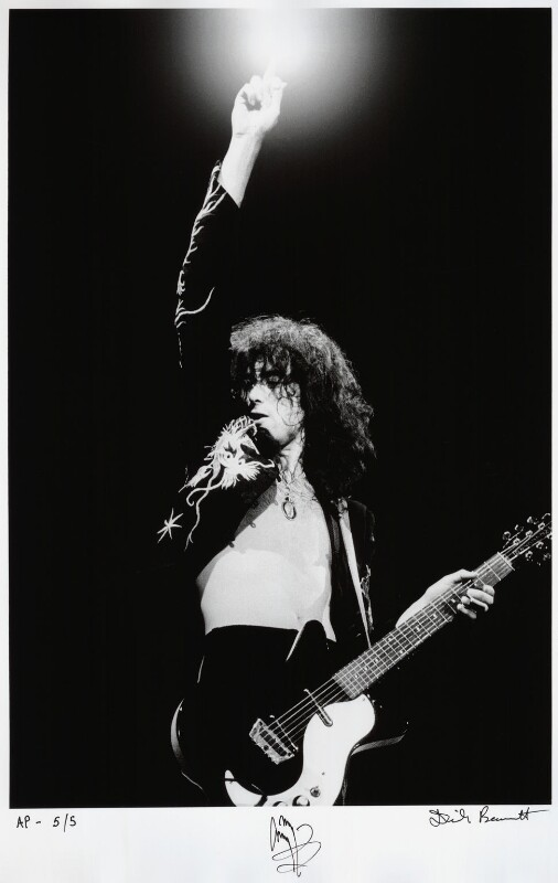 Jimmy Page, by Dick Barnatt, May 1975 - NPG x135917 - © Dick Barnatt