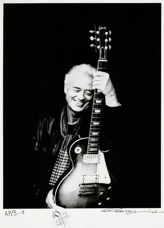 Jimmy Page, by Ross Halfin, March 2009 - NPG x135919 - © Ross Halfin