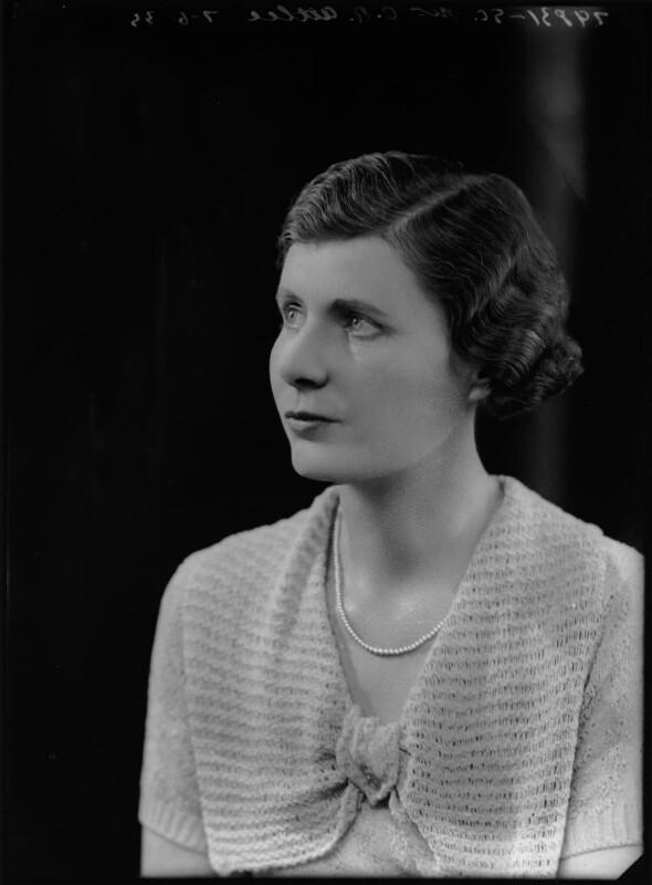 Violet Helen (née Millar), Countess Attlee, by Bassano Ltd, 7 June 1935 - NPG x105282 - © National Portrait Gallery, London