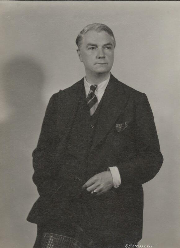 John Drinkwater, by Howard Coster, 1934 - NPG Ax136078 - © National Portrait Gallery, London