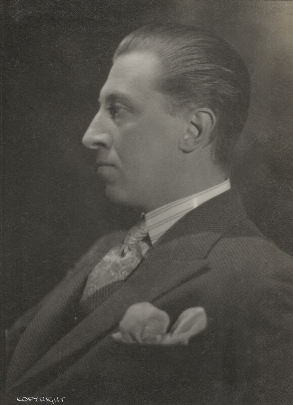 Sir Osbert Sitwell, by Howard Coster, 1934 - NPG Ax136116 - © National Portrait Gallery, London