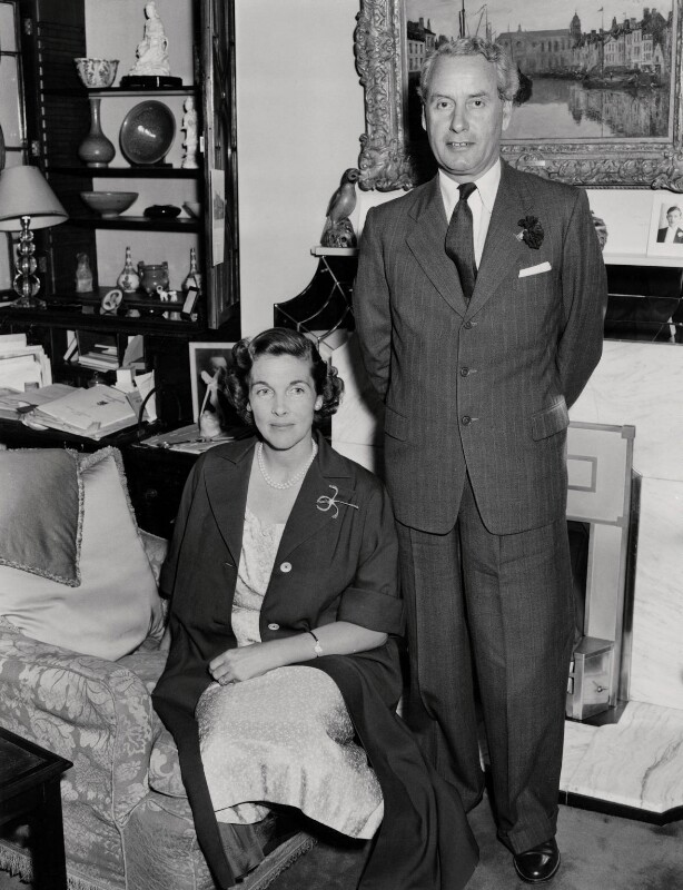 Audrey Marjorie MacDonald (née Fellowes); Malcolm John MacDonald, by Unknown photographer, July 1955 - NPG x136150 - © National Portrait Gallery, London