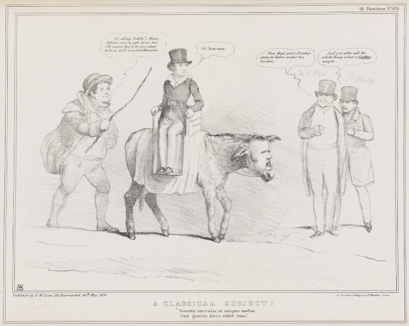 A Classical Subject!, by John ('HB') Doyle, printed by  Alfred Ducôte, published by  Thomas McLean, published 10 May 1836 - NPG D41370 - © National Portrait Gallery, London