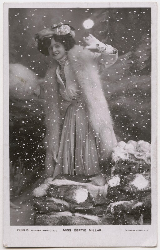 Gertie Millar, by Foulsham & Banfield, published by  Rotary Photographic Co Ltd, 1905 - NPG x136258 - © National Portrait Gallery, London