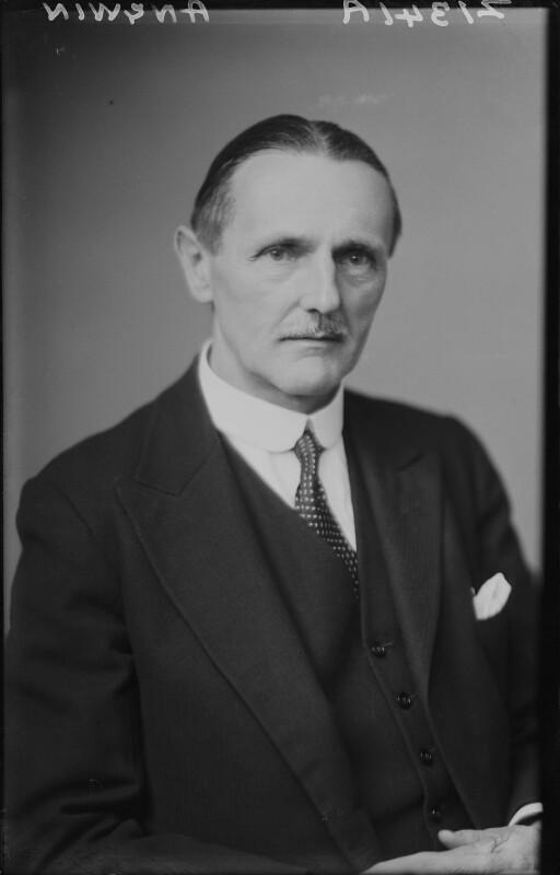 Sir (Arthur) Stanley Angwin, by Walter Stoneman, July 1943 - NPG x169080 - © National Portrait Gallery, London