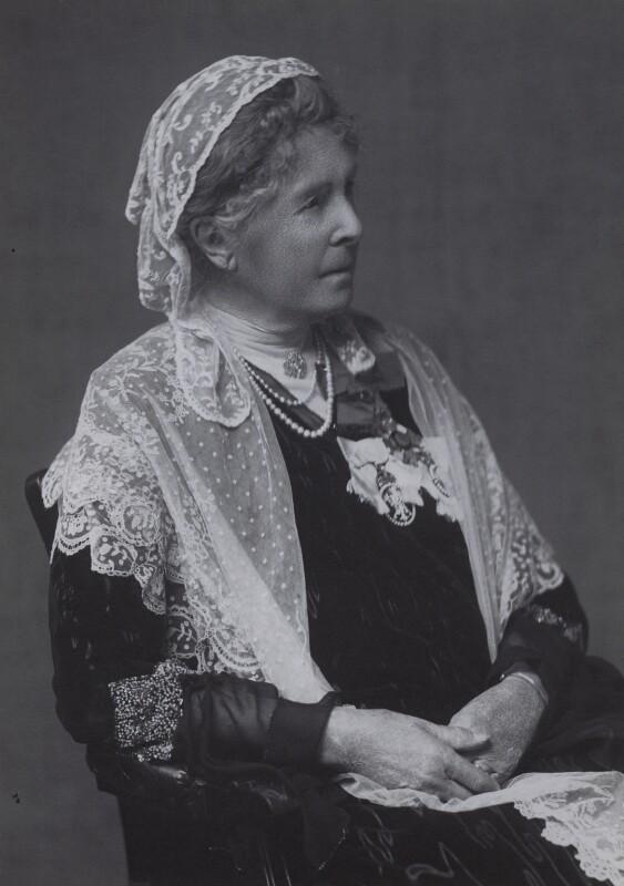 Hariot Georgina (née Rowan-Hamilton), Marchioness of Dufferin and Ava, by Walter Stoneman, 1930 - NPG x167287 - © National Portrait Gallery, London