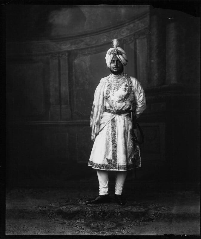 Sir Bhupinder Singh, Maharaja of Patiala, by Vandyk, 5 July 1911 - NPG x98675 - © National Portrait Gallery, London