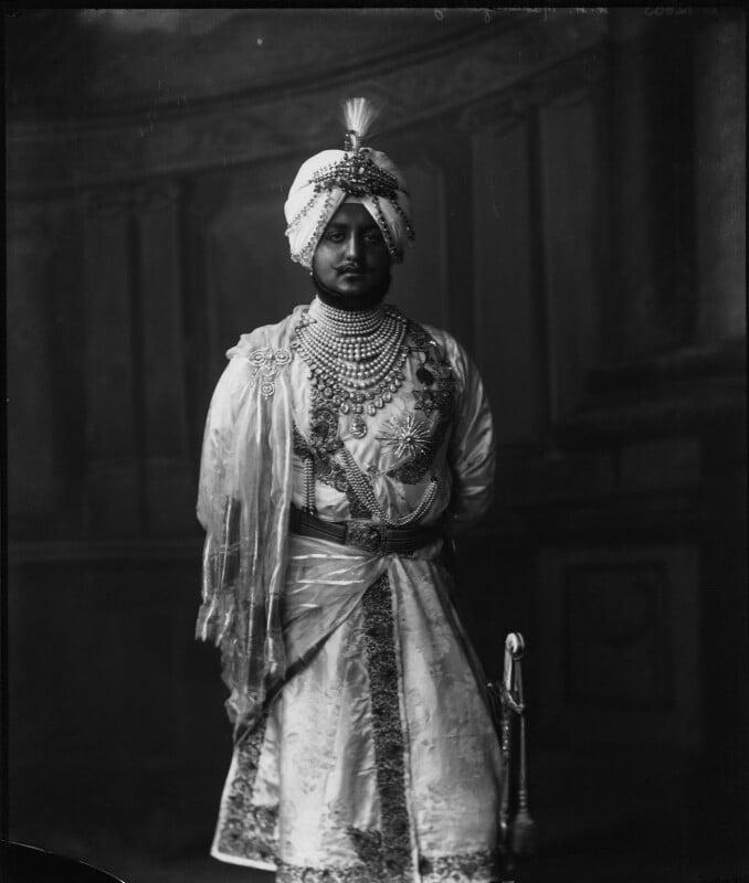Sir Bhupinder Singh, Maharaja of Patiala, by Vandyk, 5 July 1911 - NPG x98676 - © National Portrait Gallery, London