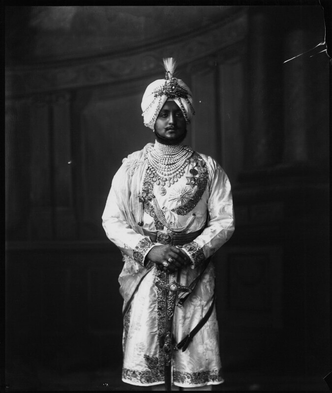 Sir Bhupinder Singh, Maharaja of Patiala, by Vandyk, 5 July 1911 - NPG x98677 - © National Portrait Gallery, London