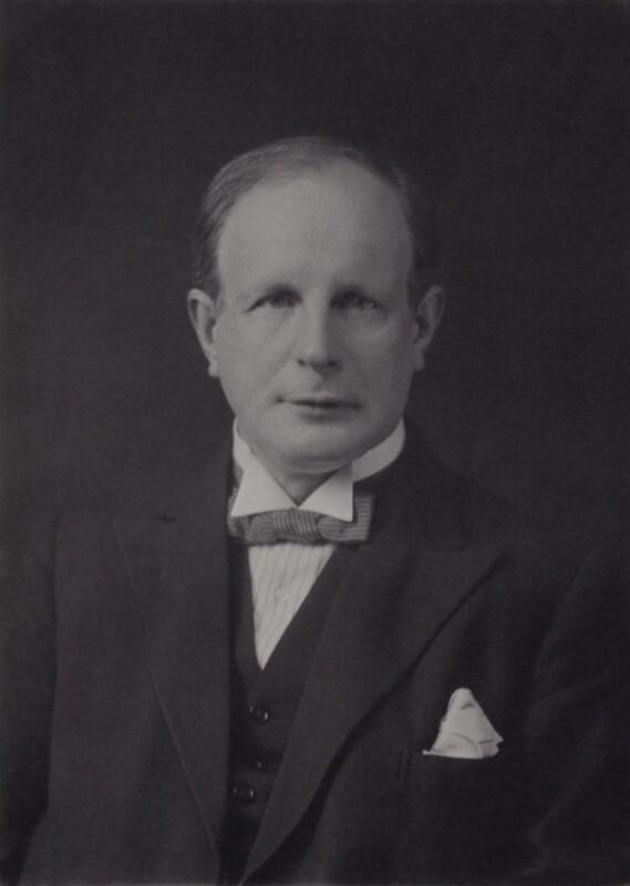 Sir (Robert) Geoffrey Ellis, 1st Bt, by Walter Stoneman, 1931 - NPG x167389 - © National Portrait Gallery, London