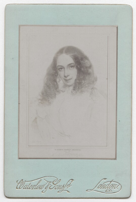 Elizabeth Barrett Browning, by Waterlow & Sons Ltd, after  Field Talfourd, 1890s (1859) - NPG x136270 - © National Portrait Gallery, London