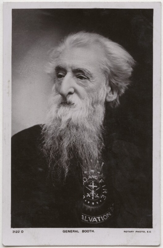 William Booth, possibly by E.H. Mills, published by  Rotary Photographic Co Ltd, 1900s - NPG x136276 - © National Portrait Gallery, London