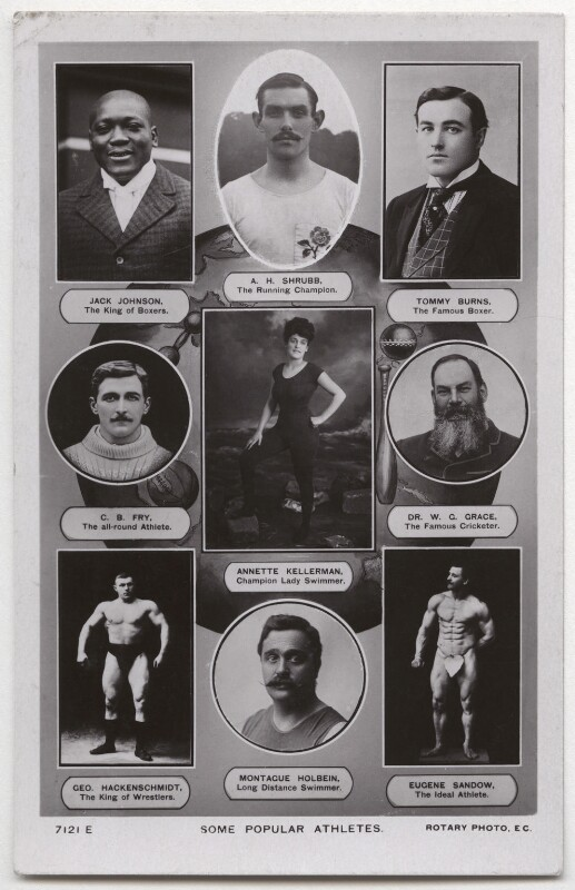 'Some Popular Athletes', published by Rotary Photographic Co Ltd, circa 1910 - NPG x136279 - © National Portrait Gallery, London