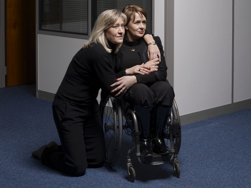 Debbie Jevans; Tanni Grey-Thompson, by Brian Griffin, 27 February 2010 - NPG P1710 - © Brian Griffin