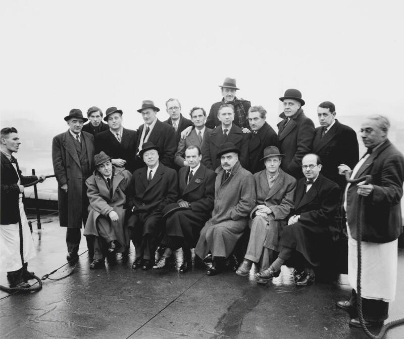 Festival of Britain group, including Osbert Lancaster, Feliks Topolski and Sir Huw Wheldon, by Elsbeth R. Juda, 1951 - NPG x136298 - © Elsbeth R. Juda / V&A Images