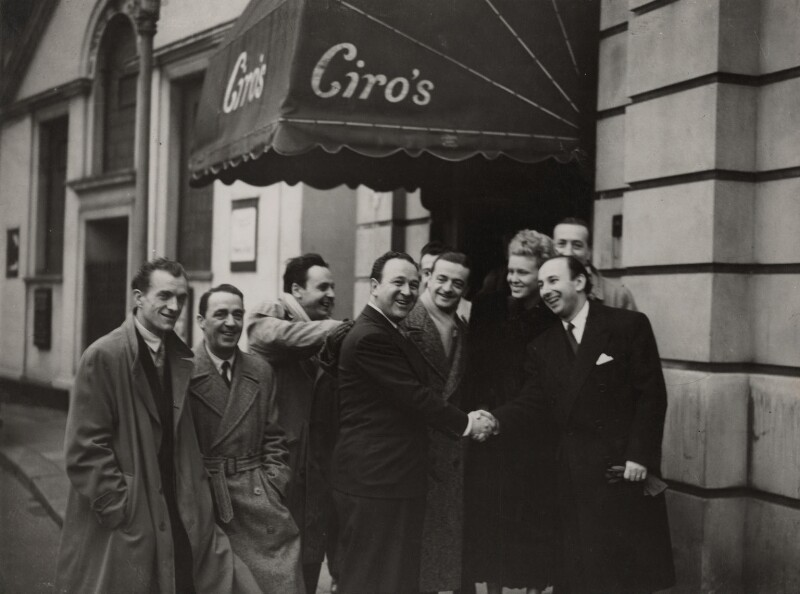 Ciro's Nightclub (group of jazz musicians possibly including Jack Newman, Syd Lawrence and Ray Noble), by Unknown photographer, 1950s - NPG x136282 - © reserved; collection National Portrait Gallery, London