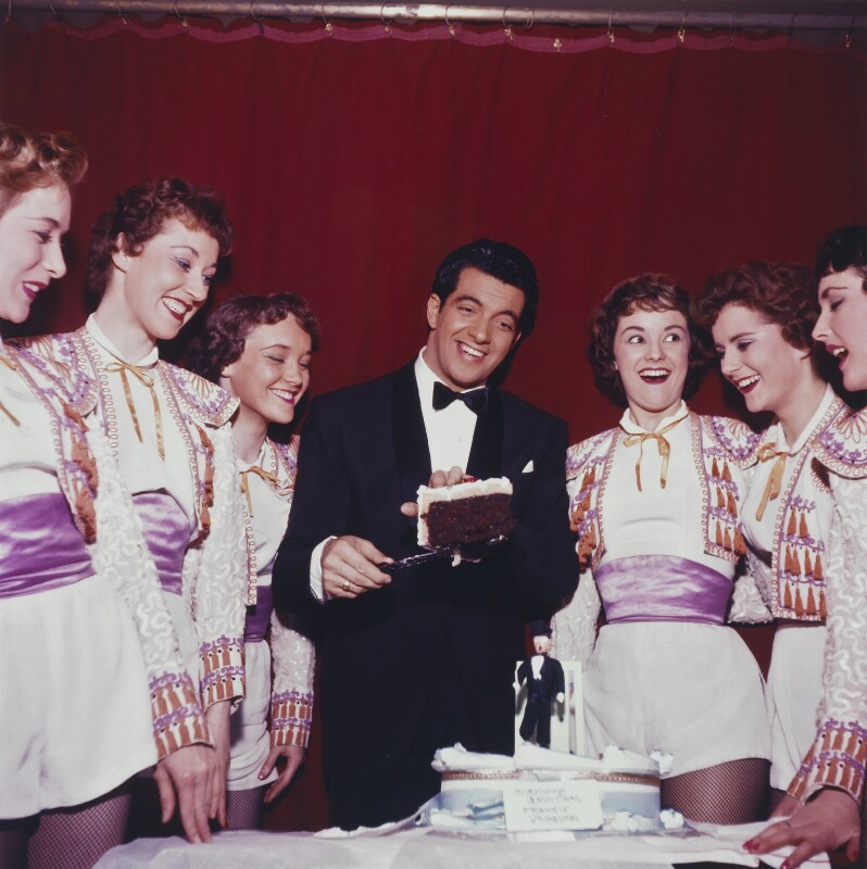 Frankie Vaughan's 30th Birthday at the Palace Theatre, by Bob Collins, 1958 - NPG x136319 - © estate of Bob Collins / National Portrait Gallery, London