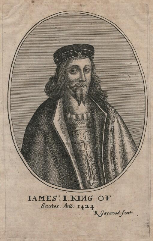 James I of Scotland, by Richard Gaywood, circa 1655 - NPG D42371 - © National Portrait Gallery, London