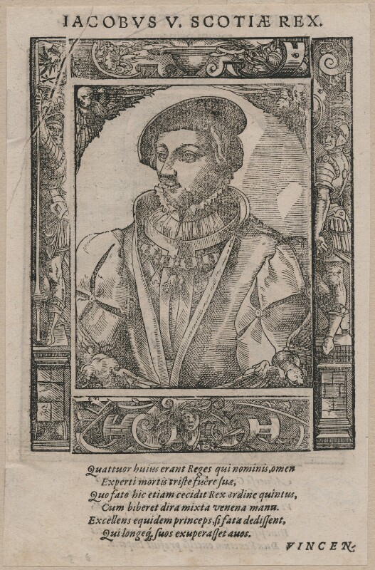 James V of Scotland, possibly by Tobias Stimmer, after  Unknown artist, circa 1540s-1570s - NPG D42367 - © National Portrait Gallery, London