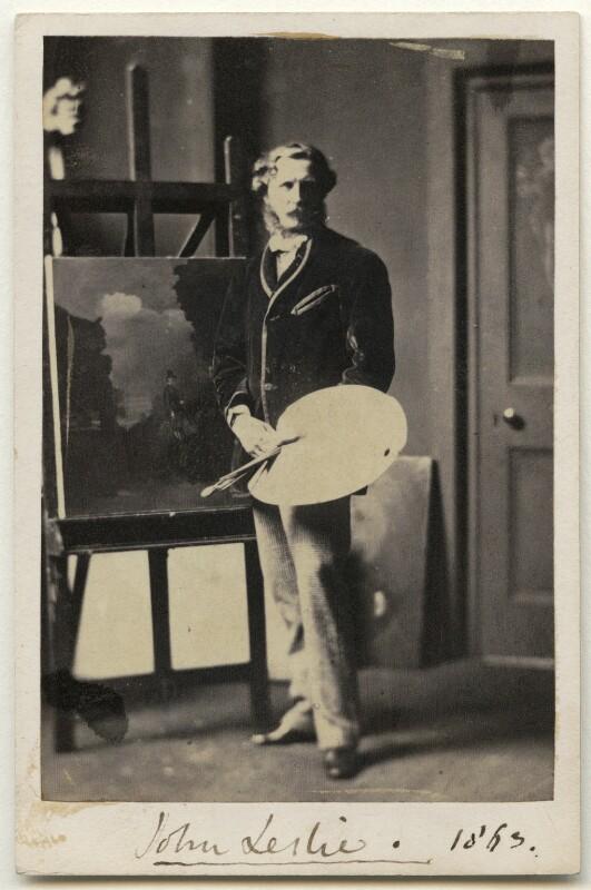 Sir John Leslie, 1st Bt, by John Cockburn Gally, 1863 - NPG Ax77142 - © National Portrait Gallery, London