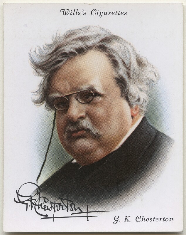 G.K. Chesterton, possibly after Howard Coster, 1937 - NPG D42392 - © National Portrait Gallery, London