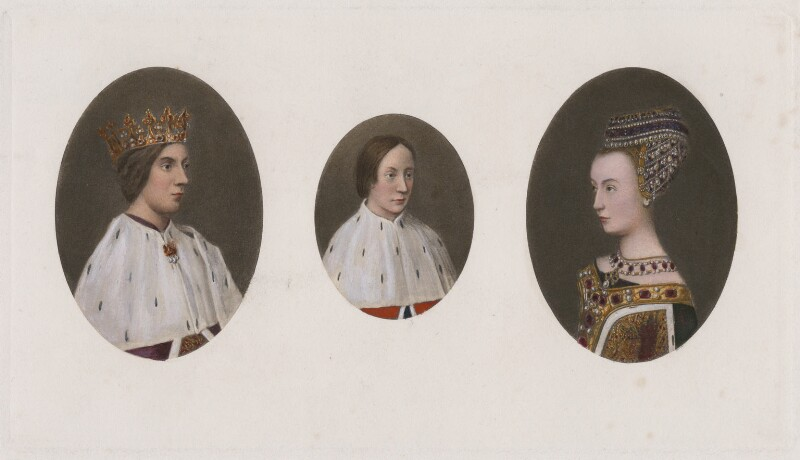 James III of Scotland; James IV of Scotland; Margaret of Denmark, after Hugo van der Goes, published 1902 (1478-1480) - NPG D42378 - © National Portrait Gallery, London