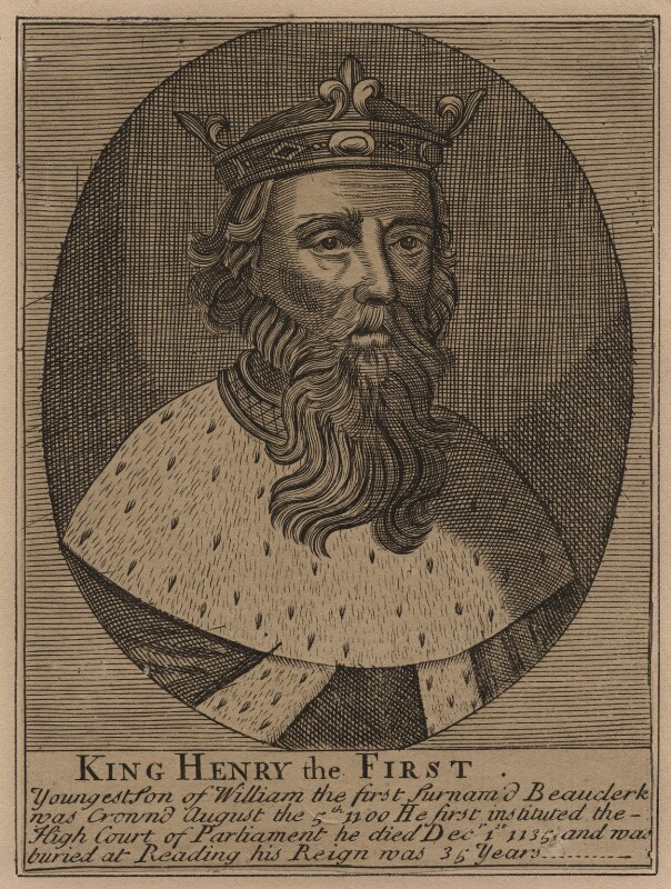 King Henry I, after Unknown artist, 18th century - NPG D42448 - © National Portrait Gallery, London