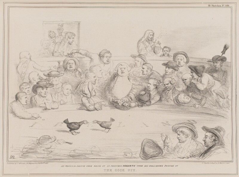 The Cock Pit, by John ('HB') Doyle, printed by  Alfred Ducôte, published by  Thomas McLean, published 16 February 1837 - NPG D41403 - © National Portrait Gallery, London
