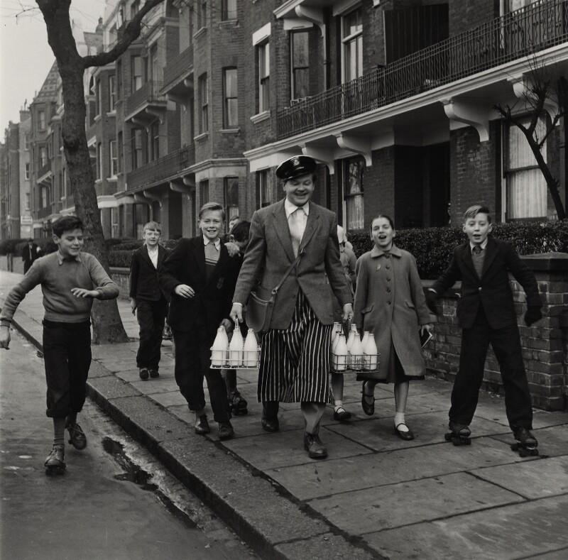 Benny Hill, by Bob Collins, 1958 - NPG x136434 - © estate of Bob Collins / National Portrait Gallery, London