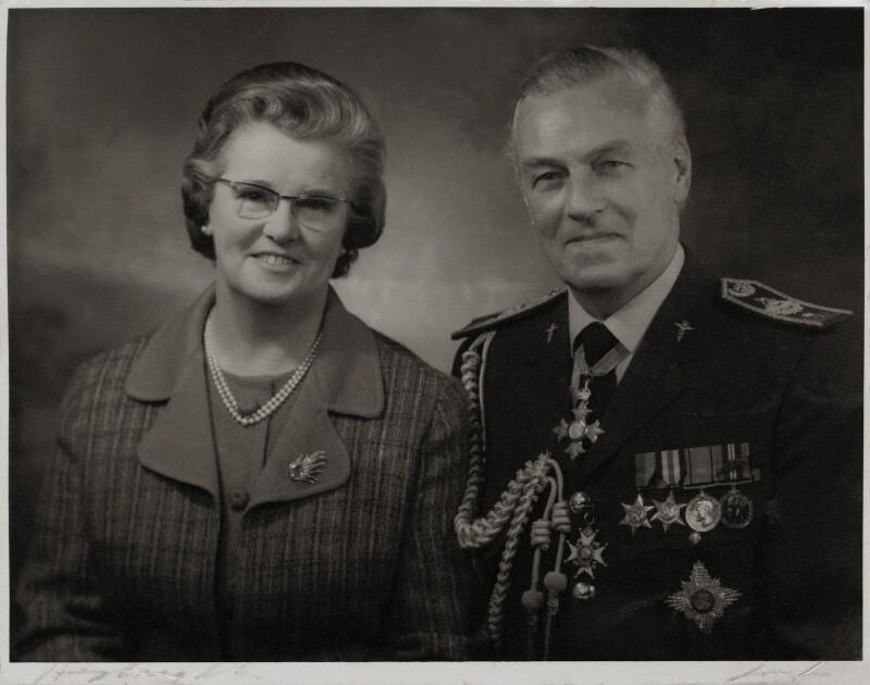 Sir Ralph Jackson; Joan Lucy (née Crowley), Lady Jackson, by Hay Wrightson Ltd, circa 1960s - NPG x181515 - © National Portrait Gallery, London