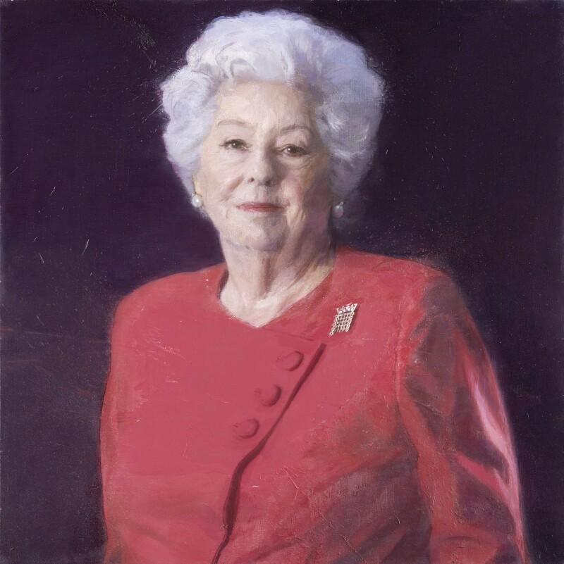 Betty Boothroyd, Baroness Boothroyd, by Brendan Kelly, 2014 - NPG 6982 - © National Portrait Gallery, London