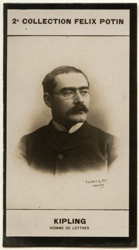 Rudyard Kipling, by Francis Henry Hart, for  Elliott & Fry, published by  Félix Potin, published after 1893 (1893) - NPG x136538 - © National Portrait Gallery, London