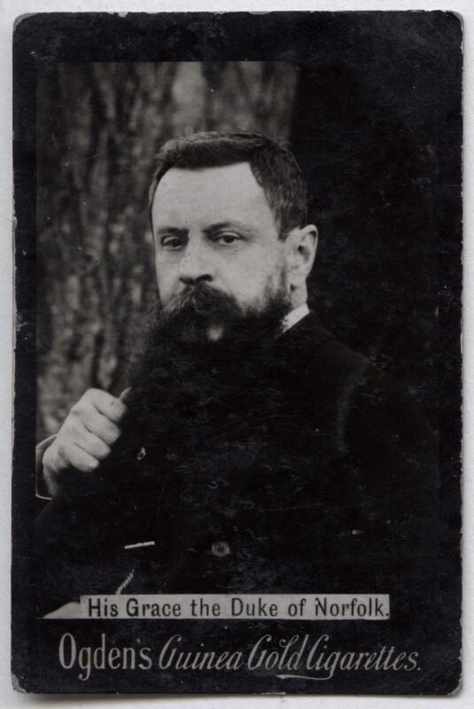 Henry Fitzalan-Howard, 15th Duke of Norfolk, published by Ogden's, published circa 1904 - NPG x136563 - © National Portrait Gallery, London