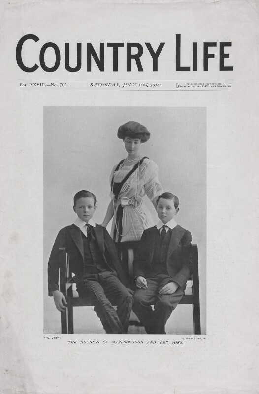 Consuelo (née Vanderbilt), Duchess of Marlborough with her sons, by Rita Martin, published 23 July 1910 - NPG x136576 - © National Portrait Gallery, London