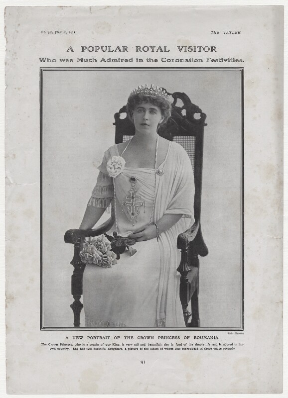 Marie, Queen of Romania, by Rita Martin, published 26 July 1911 - NPG x136580 - © National Portrait Gallery, London