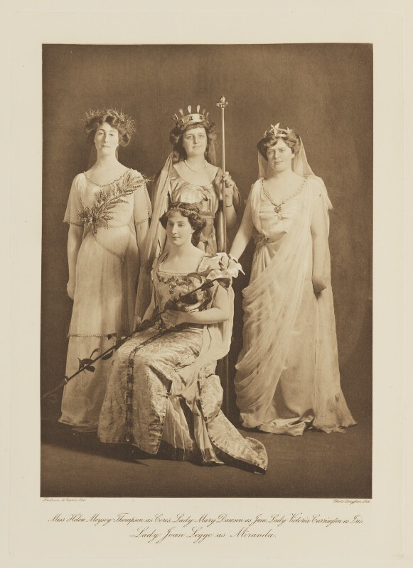 Group in fancy dress for the Shakespeare Memorial National Theatre Ball, by Langfier Ltd, published by  Hudson & Kearns Ltd, 20 June 1911, published 1912 - NPG Ax135780 - © National Portrait Gallery, London
