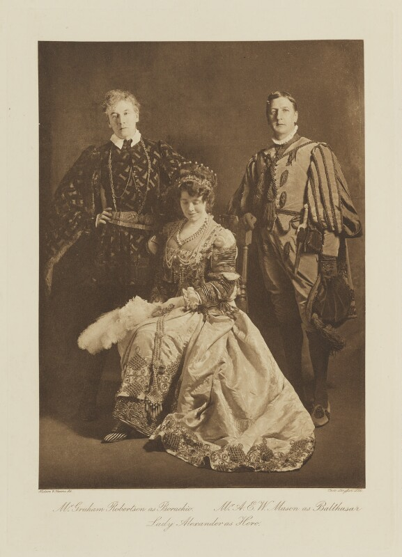 Group in fancy dress for the Shakespeare Memorial National Theatre Ball, by Langfier Ltd, published by  Hudson & Kearns Ltd, 20 June 1911, published 1912 - NPG Ax135790 - © National Portrait Gallery, London