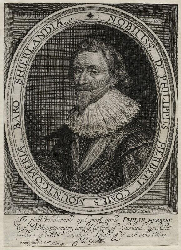 Philip Herbert, 4th Earl of Pembroke, by Robert van Voerst, after  Daniel Mytens, 1630 - NPG D42490 - © National Portrait Gallery, London
