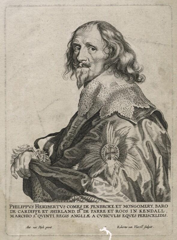 Philip Herbert, 4th Earl of Pembroke, by Robert van Voerst, after  Sir Anthony van Dyck, circa 1630-1636 - NPG D42491 - © National Portrait Gallery, London