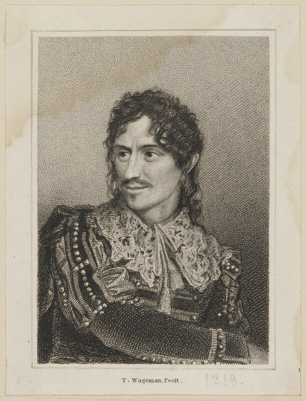 Edmund Kean as Sir Giles Overreach, by and after Thomas Charles Wageman, published by  Simpkin and Marshall, Published 1818 - NPG D38688 - © National Portrait Gallery, London