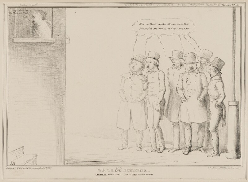 Ballad Singers, by John ('HB') Doyle, printed by  Alfred Ducôte, published by  Thomas McLean, published 10 January 1838 - NPG D41445 - © National Portrait Gallery, London