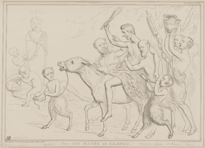 The March of Silenus, by John ('HB') Doyle, printed by  Alfred Ducôte, published by  Thomas McLean, published 13 February 1838 - NPG D41455 - © National Portrait Gallery, London
