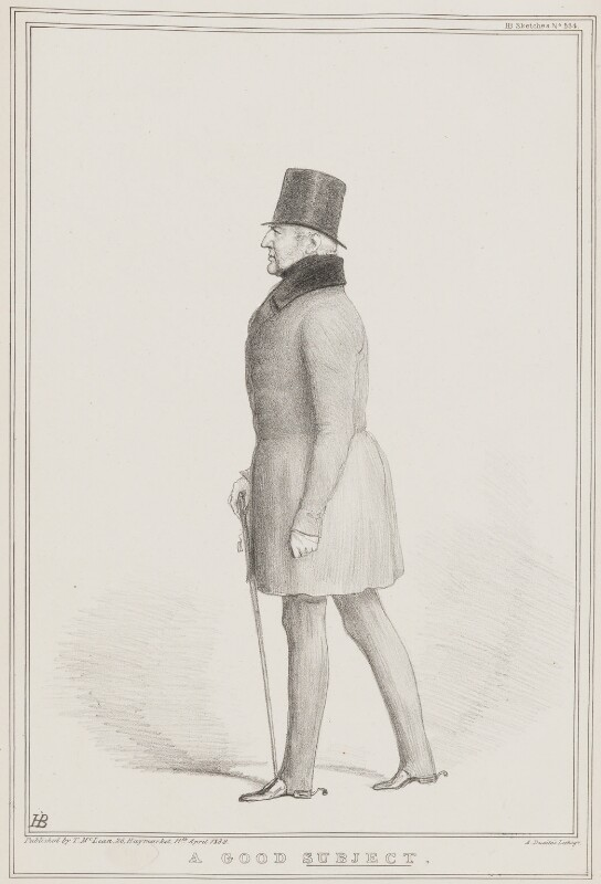 A Good Subject (Prince Adolphus Frederick, Duke of Cambridge), by John ('HB') Doyle, printed by  Alfred Ducôte, published by  Thomas McLean, published 11 April 1838 - NPG D41468 - © National Portrait Gallery, London