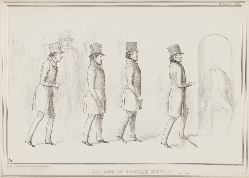 The Age of Leetle Men, by John ('HB') Doyle, printed by  Alfred Ducôte, published by  Thomas McLean, published 26 May 1838 - NPG D41473 - © National Portrait Gallery, London