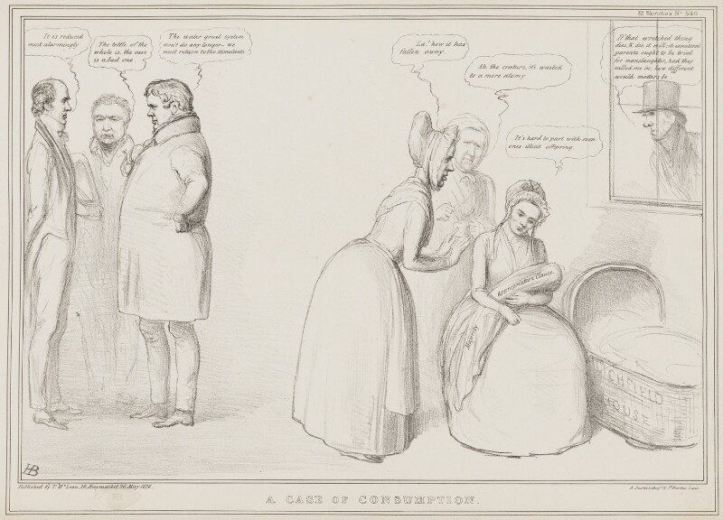 A Case of Consumption, by John ('HB') Doyle, printed by  Alfred Ducôte, published by  Thomas McLean, published 26 May 1838 - NPG D41474 - © National Portrait Gallery, London
