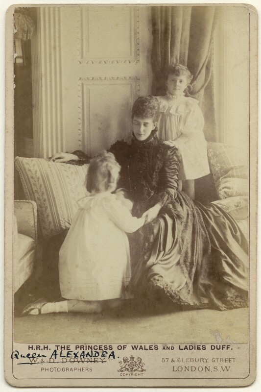 Princess Alexandra, Princess Arthur of Connaught; Queen Alexandra; Princess Maud, Countess of Southesk, by W. & D. Downey, early 1900s - NPG x136643 - © National Portrait Gallery, London