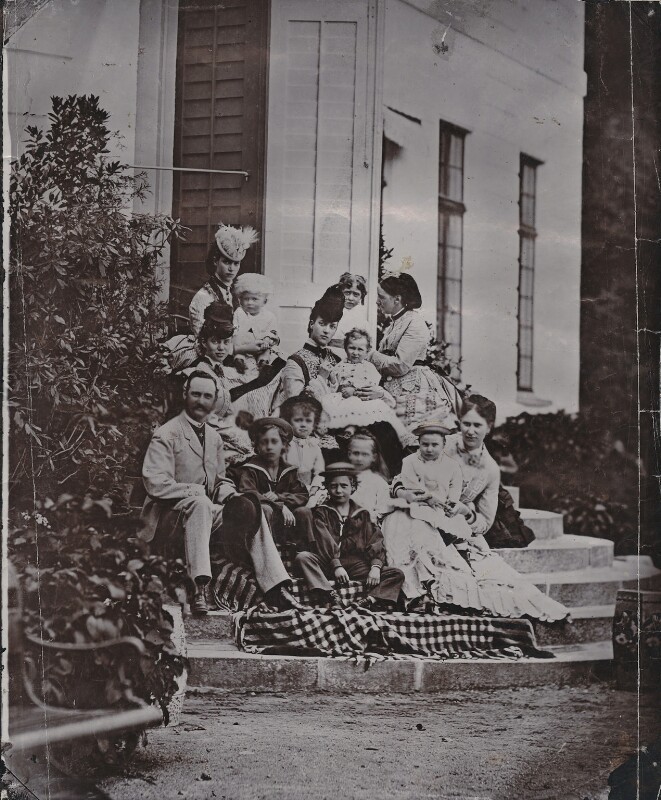 Royal family group in Denmark, by Unknown photographer, circa 1873 - NPG x136648 - © National Portrait Gallery, London