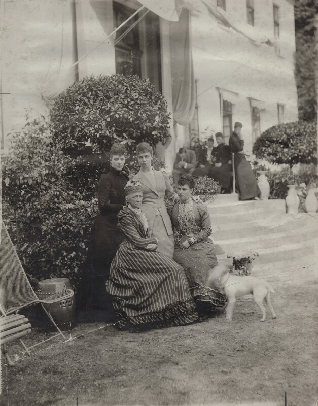 Alexandra of Denmark with her mother and sister, by Unknown photographer, 1892 - NPG x136649 - © National Portrait Gallery, London